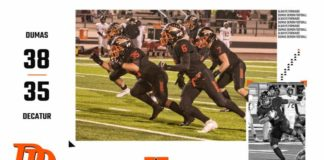 Dumas Demon football team plays Decatur November 2019