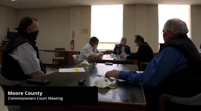 Moore County Commissioners Court Meeting April 21, 2020
